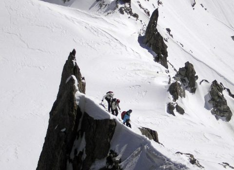 Winter mountaineering: technical level 4